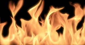 Close-up of fire and flames on a black background (Huge file)